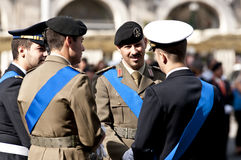 Italian army officers. Army officers during the Italian Armed Forces Day Stock Images