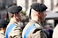 Italian army officers. Army officers during the Italian Armed Forces Day Stock Photo