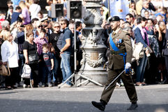 Italian army officers. Army officers during the Italian Armed Forces Day Stock Image