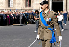 Italian army officers. Army officers during the Italian Armed Forces Day Royalty Free Stock Image