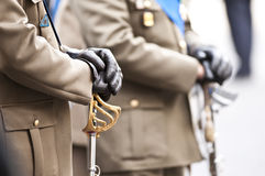 Italian army officers. Army officers during the Italian Armed Forces Day Royalty Free Stock Photos