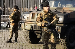 Italian Army Personnel royalty free stock photo
