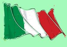 Free Italian Artistic Brush Stroke Waving Flag Royalty Free Stock Images - 122404629