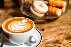 Italian artistic cappuccino Royalty Free Stock Photos