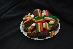 Free Italian Assorted Rainbow Cookies And Other Bakery Cookies Royalty Free Stock Photos - 159648198