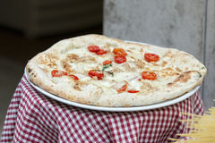 Italian authentic pizza in rome restaurant Royalty Free Stock Image