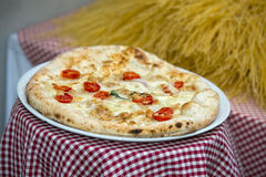 Italian authentic pizza in rome restaurant Stock Photo