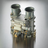 Italian automobile carburetor. Italian carburetor used in high performance sports cars Royalty Free Stock Images