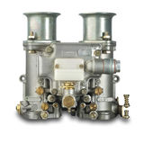 Italian automobile carburetor, isolated. Italian carburetor on white with shadow and clipping path Stock Images