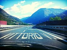 Italian Autostrada Royalty Free Stock Photography