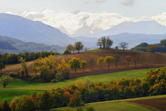 Italian autumn landscape Stock Photo