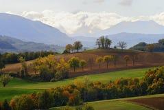 Italian autumn landscape stock photo