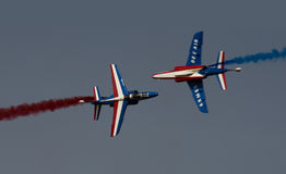 Italian Aviojets Airshow Dubai Royalty Free Stock Photography