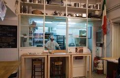 Italian baker Royalty Free Stock Photo