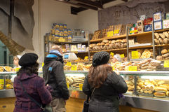 Italian bakery. Clients while buying in a bakery in Rome Royalty Free Stock Images