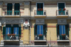 Italian balconies Royalty Free Stock Images