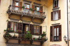 Italian balconies Stock Photos