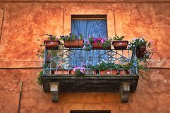 Italian balcony Royalty Free Stock Images