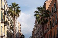 Italian balcony to Salerno city Stock Photo