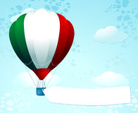 Italian balloon with banner Royalty Free Stock Images