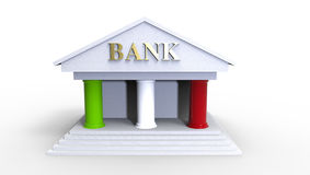 Italian Bank Illustration made in 3d Royalty Free Stock Photo
