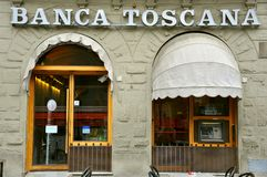 Italian bank in Tuscany Stock Photography