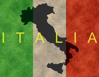 Italian Banner. Banner of the Italian state and borders Stock Images