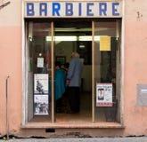 Italian barber Stock Image