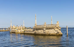 'Italian Barge' in front of the Villa Vizcaya Royalty Free Stock Photos
