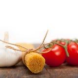 Italian basic pasta ingredients Royalty Free Stock Photos