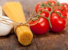 Italian basic pasta ingredients Royalty Free Stock Photography