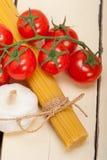 Italian basic pasta ingredients Stock Photography