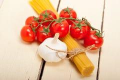 Italian basic pasta ingredients Royalty Free Stock Photo