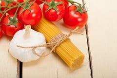 Italian basic pasta ingredients Royalty Free Stock Images