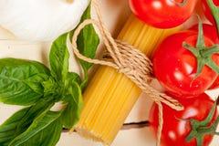 Italian basic pasta ingredients Stock Images