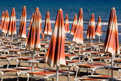 Italian beach royalty free stock photo