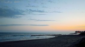 Italian Beach At Dusk. At Marina Di San Nicola, Lazio stock video