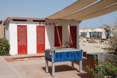 Italian Beach Huts Royalty Free Stock Photos
