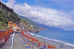 Italian beach Stock Image