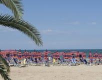 Italian beach Royalty Free Stock Images