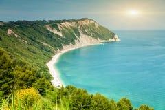 Italian beach from a viewpoint Stock Photos