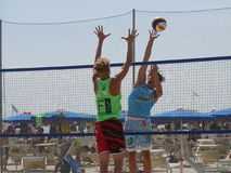 Italian Beach Volley Championship U21 - Male Stock Image