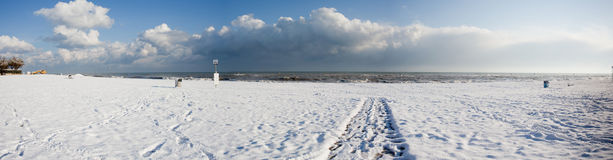 Italian beach in winter Stock Photo