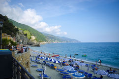 Italian Beachfront Surrounded by Mountains Royalty Free Stock Photo