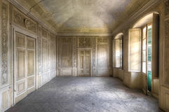 Italian beauty. Beautiful abandoned palace in Italy with a casino building style royalty free stock photo
