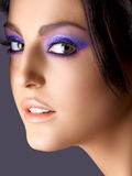 Italian beauty with fashion make-up Royalty Free Stock Image