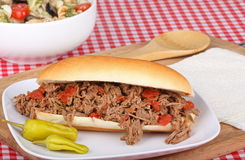 Italian Beef and Peperoncini Stock Images