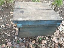 Italian beekeeping box in Vietnam,. Italian beekeeping box vietnam color royalty free stock photo