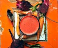 Italian beet juice on a vintage background Stock Photos