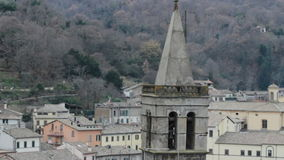 Italian bell tower stock video footage